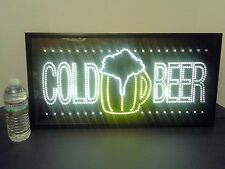 """VTG BEER ELECTRIC LIGHTED GENERIC SIGN """"COLD BEER"""" 24.5"""" X 12.5"""" X 4""""."""