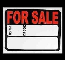 CARS VANS Price Pricing FOR SALE Sign Board Plastic Card Display Year / Model