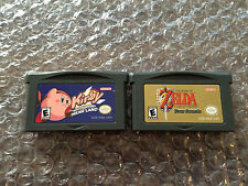 Kirby Nightmare in Dream Land + Zelda A Link to the Past (Game Boy Advance, GBA)