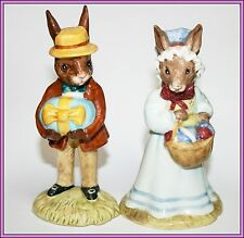 Royal Doulton Bunnykins Bunny Rabbit DB18 DB19 DB 18 19 MR MRS The Easter Parade