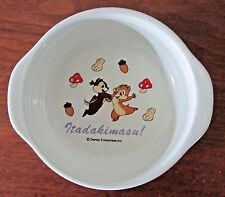 Disney Enterprises Inc Small Ceramic Bowl Chip N Dale Japanese Itadakimasu Child