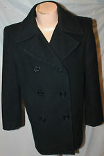 USGI USN US NAVY 6 BUTTON WOOL PEA COAT PEACOAT