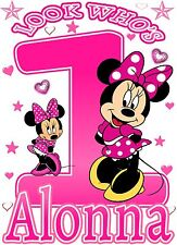 Minnie Mouse Birthday Party t Shirt Iron On Transfer Personalized Decal