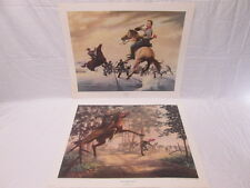 James Thomas Neumann Civil War Prints John Pelham - Albert Sidney Johnson 1980