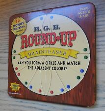 Vintage R.G.B. ROUND-UP Brainteaser PUZZLE Solitaire Tile Matching Game