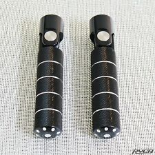 Universal Aluminum Folding Motorcycle Foot Pegs Rearsets Cafe Racer Bobber