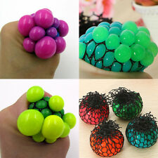 1Pc Novelty Whimsy Creative Sensory Squishy Mesh Fruity Ball Grape Squeeze Toy