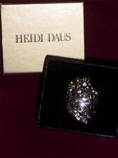 """Heidi Daus """"What a Hoot"""" Crystal-Accented Owl-Design Ring Size 6 NEW with Box"""