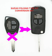SUZUKI GRAND VITARA SWIFT IGNIS 2 Button remote key FOB FOLDING TYPE CONVERSION