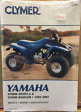 Clymer Yamaha YFM80 MOTO4 & Badger ATV Service Repair Maintenance Book 1985-2001