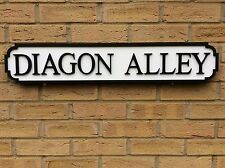 Vintage Wooden London Street Road Sign ,  DIAGON ALLEY