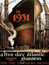 ART PRINT POSTER TRAVEL OCEAN LINER ATLANTIC GIANTESS CANADA NOFL1335