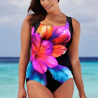 Sexy Black Over-sized Floral Monokini Swimwear Beachwear Push-up Bathing Suits