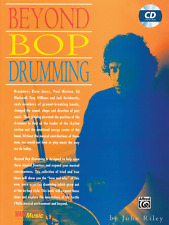 """BEYOND BOP DRUMMING"" INSTRUCTIONAL MUSIC BOOK/CD-BRAND NEW ON SALE-DRUMS-METHOD"