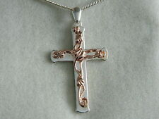 Clogau Silver & 9ct Welsh Gold Tree of Life Cross Pendant RRP £300.00