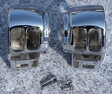 Harley Electra Glide Road King CHROME SWITCH HOUSINGS