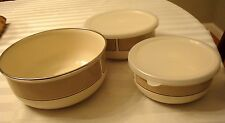 Kobe Set Of 3  Metal Bowl Set Two With Lid Japan