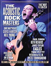 The Way They Play Acoustic Rock Masters Learn Guitar TAB Music Book & CD