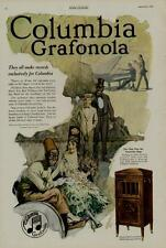 "1920 COLUMBIA GRAFONOLA AD / ""AL JOLSON"" & MORE...ARTISTS: GORDON GRANT"