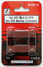 Rokuhan A101-3 Z Scale 40f Marine Container tex 2 pcs