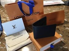MENS LOUIS VUITTON EPI BLACK WALLET NOIR M60662 PF MULTIPLE