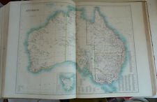 Very Large Antiquarian World Atlas Blacks 1897 55 Colour Map Plates