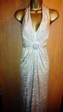 STAR Julien Macdonald Debenhams Shimmery Gold Evening Maxi Dress UK size12