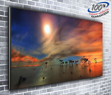 African Sunset Scenic Panoramic Canvas Print XXL 4 foot wide x 1.5 foot high