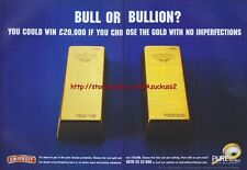 "Smirnoff Vodka ""Bull Or Bullion?"" 1999 Magazine Advert #3070"