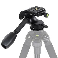 360 Swivel Ball Head w/ Quick Release Plate Single Handle F Tripod DSLR Cam