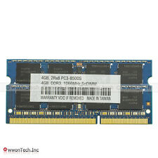 New 4GB DDR3 PC3-8500S DDR3-1066MHz 204pin SODIMM Laptop Memory RAM CL7 PC8500