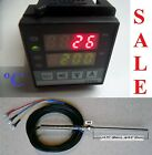 Dual Digital PID Temperature Controller RTD PT100 Sensor Probe Oven 0.1 Display