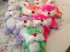 Lot of 10 colorful bears birthday loot games stuffed animals new