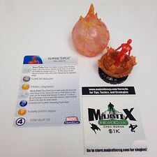 Heroclix Captain America set Human Torch #058 Super Rare figure w/card!