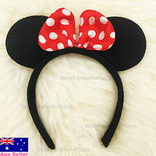Disney Mickey/Minnie Mouse Hair Band/ Ears Bow Head Band for Baby Kids Girls