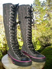 Converse All Star Chuck Taylor Knee High Sneaker Boot Lace/Zip Tweed M6 Womens 8