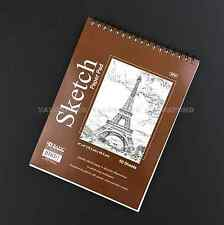 "6"" X 8"" Premium SKETCH BOOK Paper Pad 50 Sheets Quality Top Spiral Bound (F02)"