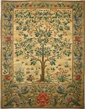 "37"" TAPESTRY WALL HANGING, COPY OF WM MORRIS TREE OF LIFE, BEIGE"