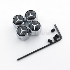 Mercedes Benz Tyre Caps Chrome Anti Theft Locking Set Of 4 Merc Tire Dust Cap