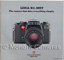 Leica R4 MOT Electronic Camera & Lens Sales Brochure, More Catalogues Listed