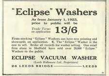1926 Eclipse Vacuum Washer Leeds Holloware Leeds Bridge Old Advert