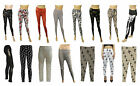 Ladies Legging Aztec Skull Cross Bones Peace Symbol printed Women Leggings 8-14