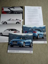 AUDI A3 CABRIOLET PRESS RELEASE & PRESS PHOTOS x 5 Brochure related jm