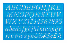 20mm ITALIC FONT UPPER LOWER CASE ALPHABET LETTERS & NUMBERS STENCIL TEMPLATE mb