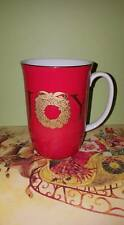 Otagiri Gibson Greetings Christmas Wreath Joy in Gold Mugs; Japan