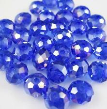 New Faceted Rondelle Bicone Glass Crystal Jewelley Beads AB Blue 4mm148PC e-3