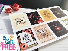 PP151 -- 8 Small Inspirational Quote Life Planner Stickers for Erin Condren