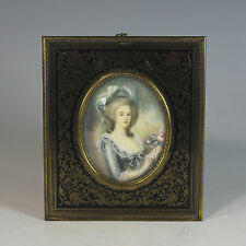 Miniature Portrait of Marie Antoinette Beautiful frame 19th Century