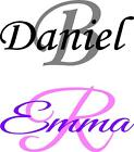 1 x Name And Initial - Wine Glass Pint Glass Decal Stickers Special Occasion