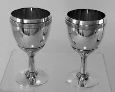 Set Of 2 Sterling Silver Wine Goblets By Gorham no. 855
